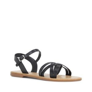 Siren Shoes 'Taipai' Black Leather Sandals